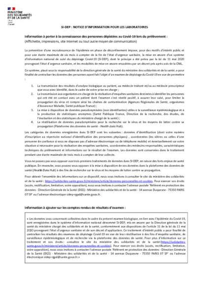 thumbnail of SI-DEP_Mentions_Information_Patients_v5.3