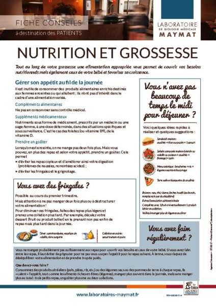 thumbnail of Nutrition et grossesse